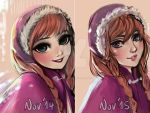 Draw this again - 1 year progress - Anna (Frozen) by MitsouParker