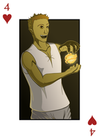 Light-in-Darkness, 4 of Hearts by micahdraws
