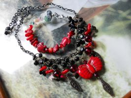 Butterfly, coral and turtle by edelweiss-workshop