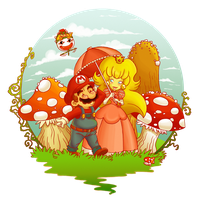 Mario and Peach by Libellchen174