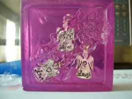 Live, love, laugh charm soap by butterflypromqueen