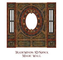 TW3D Magic Symbols Wall by TW3DSTOCK