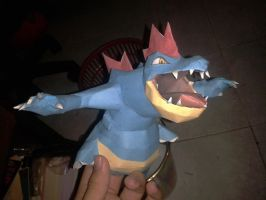 coming soon!!!! feraligatr papercraft! by javierini