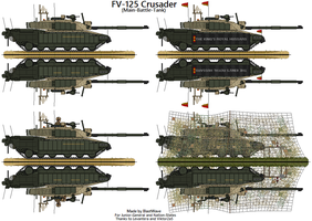 FV-125 Crusader Main Battle Tank by BlastWaves