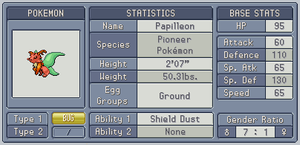 Fakedex Stats: Papilleon by Wooded-Wolf