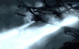 Frost Dragon Fire Skyrim by Annatiger1234