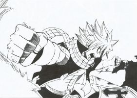 Fairy Tail - Natsu vs Sting and Rouge by NeXusShawn