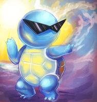 Boss Squirtle by GlassPanda