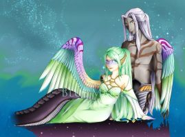 Commission - Zeru and Lisre by blue-marine