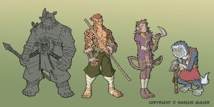 Tribal Protectors Lineup by marcusmuller