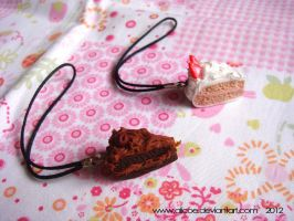 Chocolate or Strawberry Cake Cell Pin by alicoe