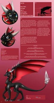 Cindera's Ref Sheet by VDragon-Creations