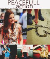 +peacefull action by heretoparty