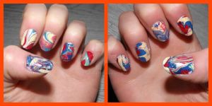 marbled nails by ARAart
