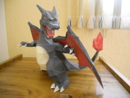 Pokemon Papercraft - Shiny Charizard by Crimson-Flazey