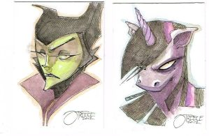 Maleficent and Twilight Sparkle by JeremyTreece