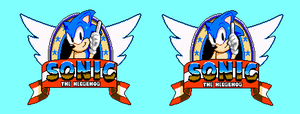 Sonic (NES Pirate) Title screen sprites (revamp) by MegamanX-2009