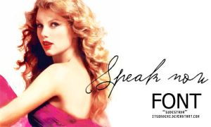 SPEAK NOW FONT by itsondemi