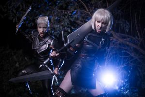 Clare and Deneve - Claymore by Crona94
