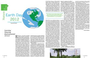 Earth Day Magazine Spread by SeeMooreDesigns