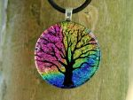 Rainbow Tree of Life Glass by FusedElegance