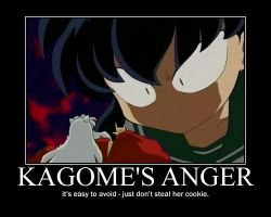 Kagome's Anger by ikilledahollow4