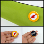 The Flash Logo Pin by WINGEDLESS