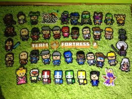-Perler- Pixelblock Group Shot~ by OtakuLuka