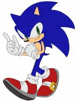 Sonic the Hedgehog COLORED (digital drawing) by delvallejoel