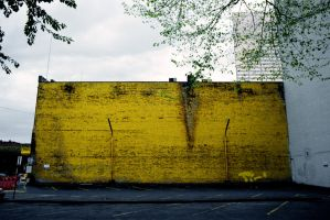 The Yellow Wall by teh-Postmodern-Man