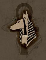 Anubis Head by Xeylen