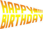 Happy Birthday Back to the Future font 2 by ENT2PRI9SE