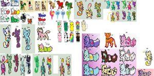 70 Adoptables by ZS-Adopts