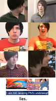 phil and dan wear each others clothes. by kerbubbles