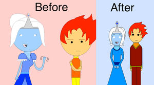 Before and After Iona and Pyro by blackblade94