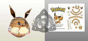 Pokemon Mini Eevee Papercraft Preview by HellswordPapercraft