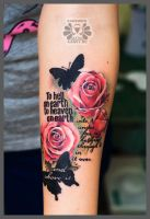 roses, text and buterfly by Karviniya
