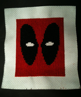 Deadpool cross stitch by WhispMI21