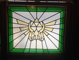 Stained Glass Legend of Zelda by cecilialibra