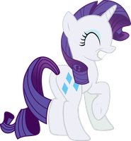 Vector Rarity smiling happily by Barrfind