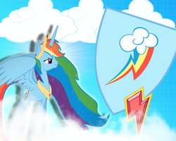 Princess Rainbow Dash by JustaninnocentPony