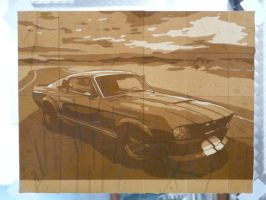 Ford mustang GT500 Brown tape by supereiki