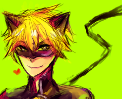 Chat Noir Doodle by Sygios