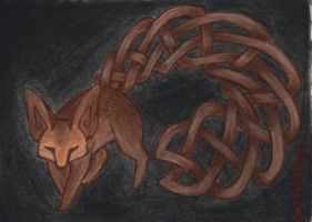 "Tribal ""Fennec"" ACEO by PanHesekielShiroi"