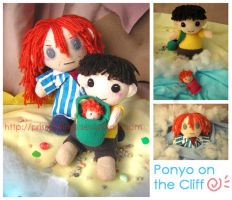 Ponyo on the cliff by prismtwine