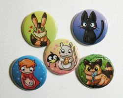 ghibli button pack2 by michellescribbles