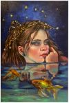 Dreams on a starry night..oils on linen by xxaihxx