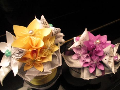 Prospit and Derse inspired Corsages by Nightmareswithin