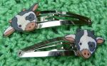 Clippies Cow Snap Hair Clips by Eliea