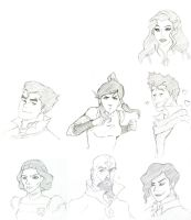 Legend Of Korra Faces by ReiSif